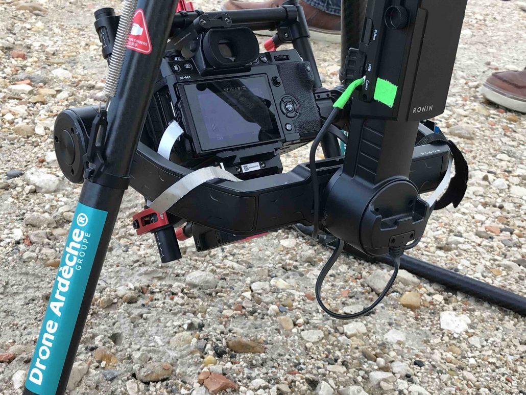 professionnel du drone en camargue