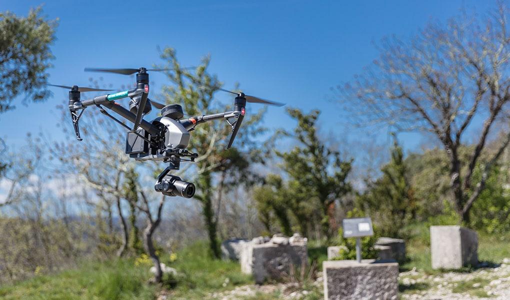 Drone Inspire 2 avec X7 en Ardèche