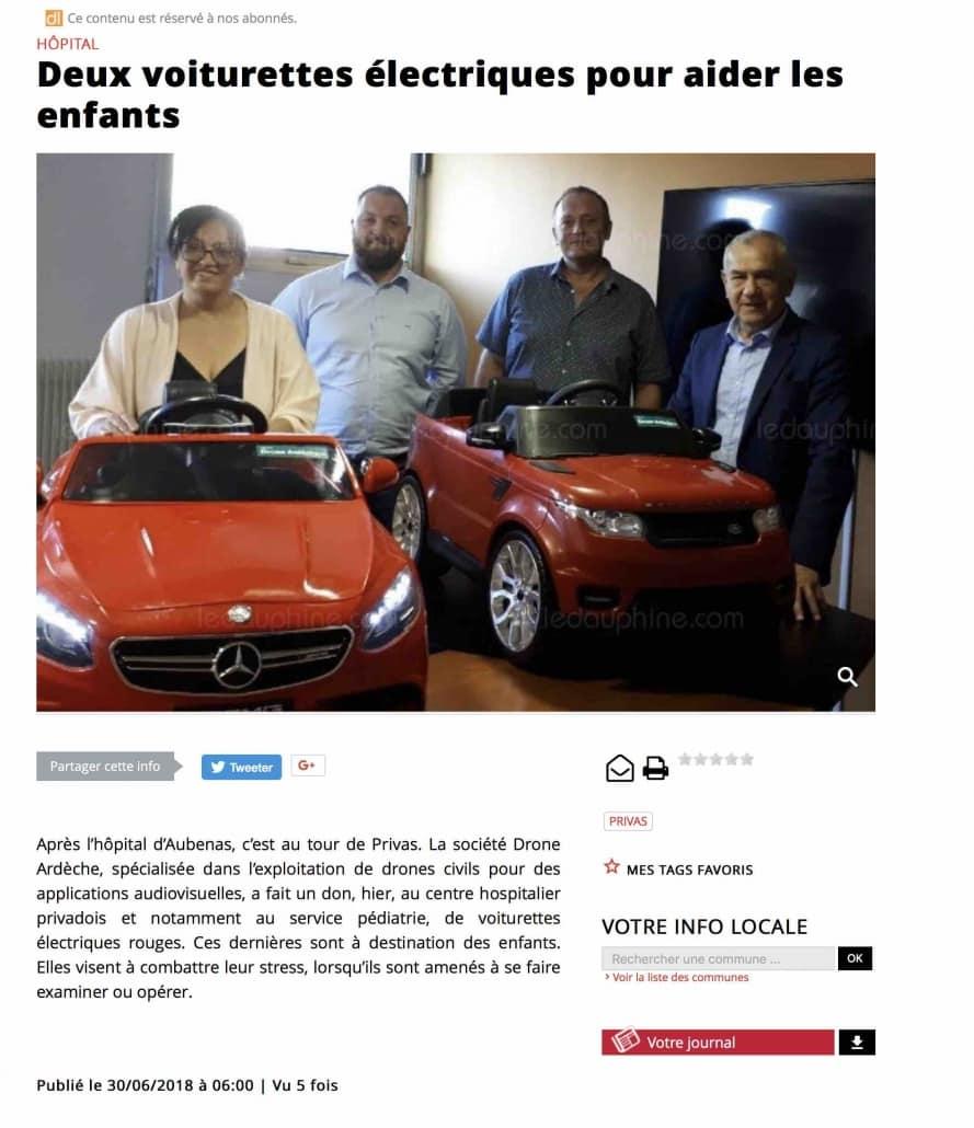 drone ardèche fait un don à lhopital de Privas pour limiter le stress des enfants 889x1030 - Drone Ardèche offre des voiturettes électriques pour les enfants des hôpitaux