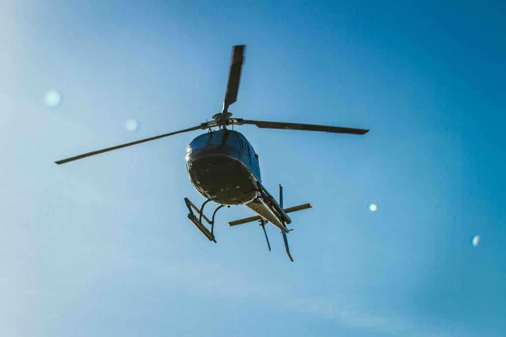 helicoptère en Ardèche