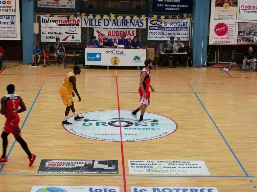 Drone Ardèche est partenaire du basket d'aubenas