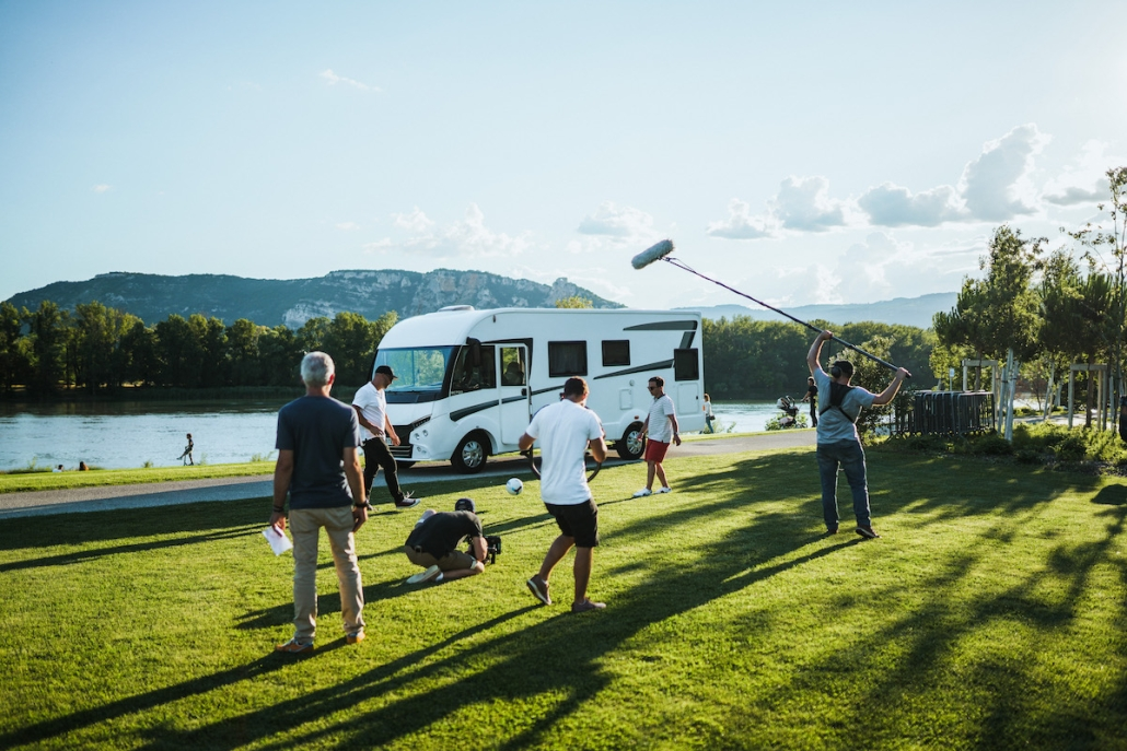 tournage de film en région Lyonnaise le long du Rhone