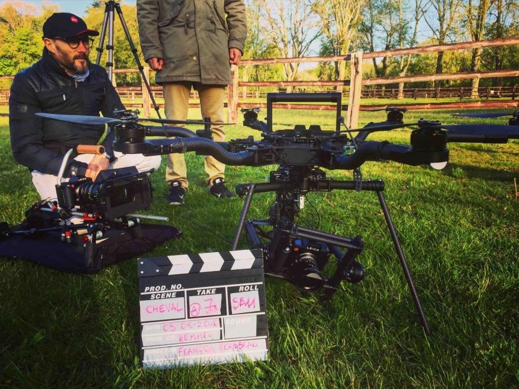 tournage fiction par drone drone Ardèche Globedroner
