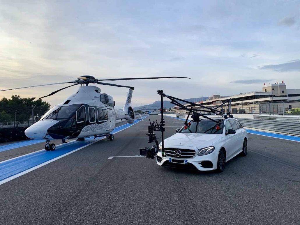 tournage vidéo sur le circuit du castellet avec notre cameracar | drone automobile