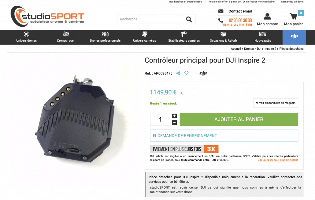 meilleur parachute s3 pour drone DJI inspire 2