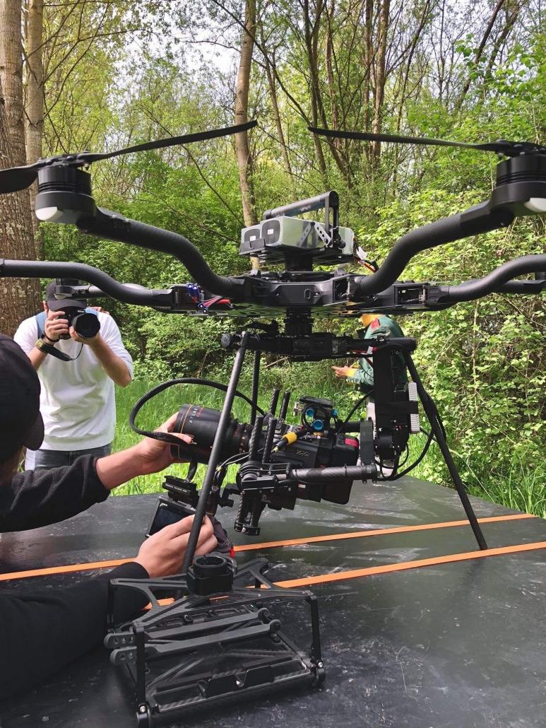 opérateur drone anamorphique