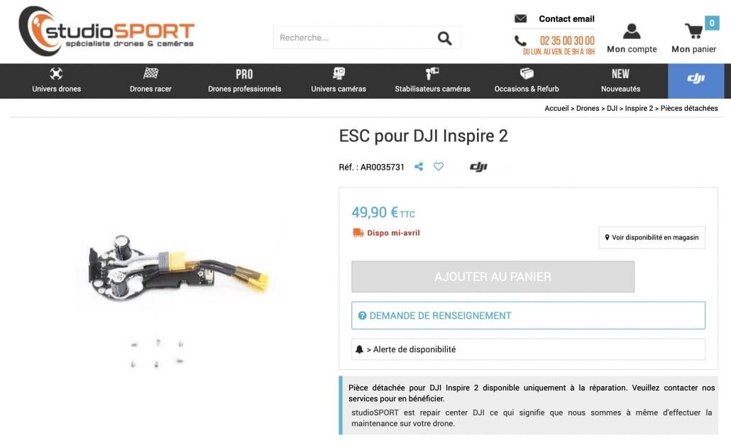 parachute s3 pour inspire 2