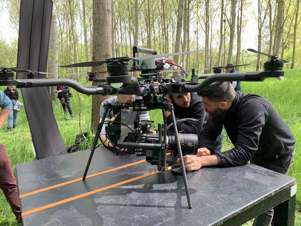 Freefly Alta in France with pilot and crew for commercials, fictions | aerial cinematography for directors french team