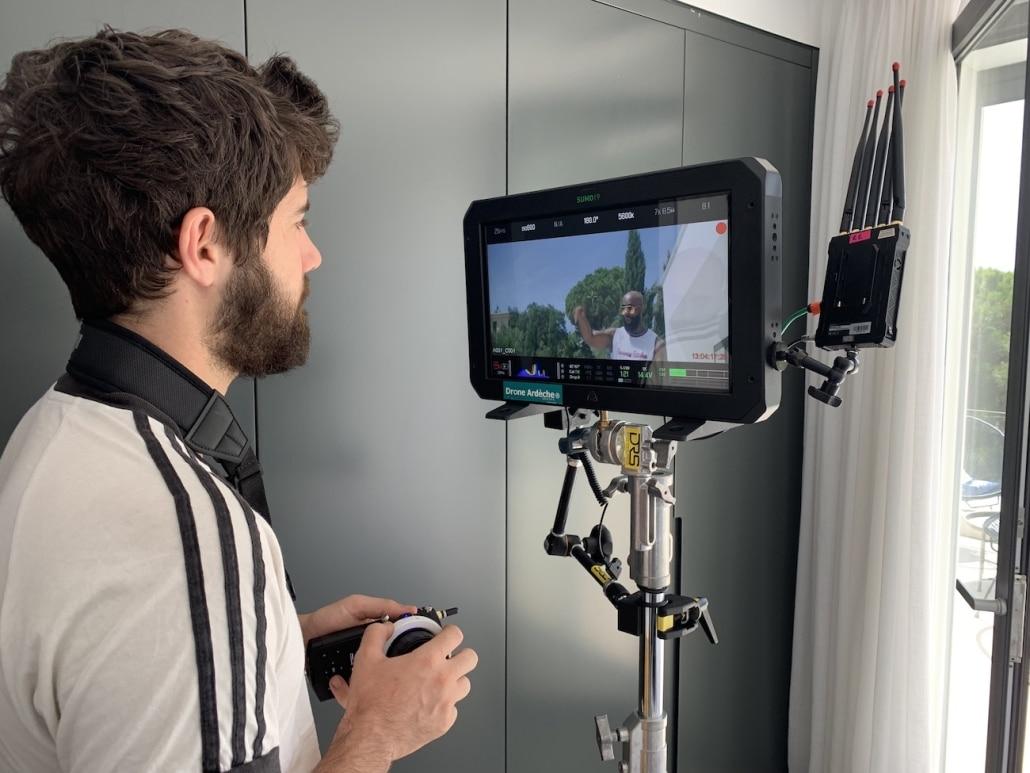 agence de production vidéo clip de rap opérateur drone assisant réalisteur chef op