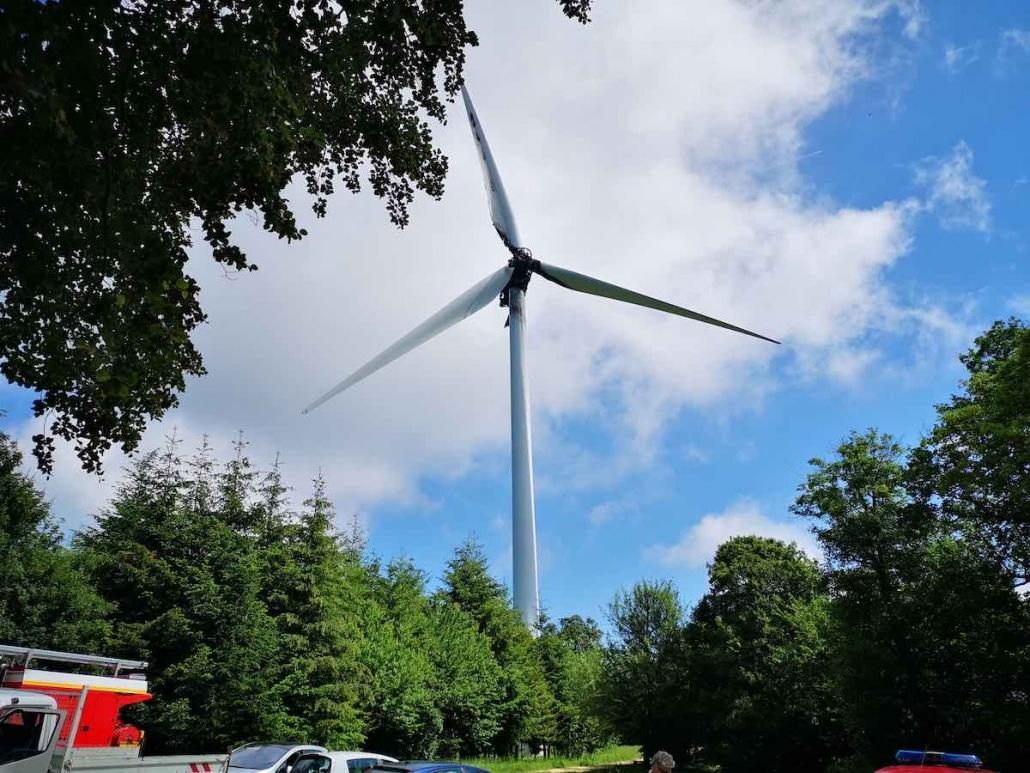 exemple d'une éolienne que notre entreprise a inspecté par drone
