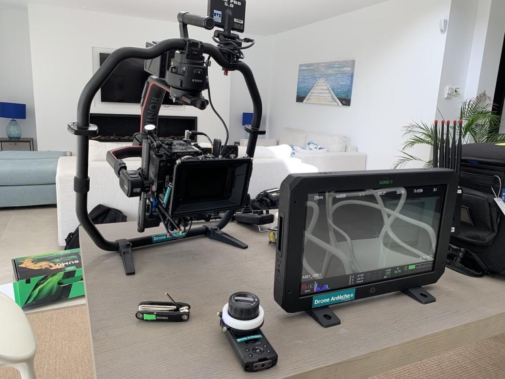 location matériel cinéma avec opérateur drone france espagne pour clip