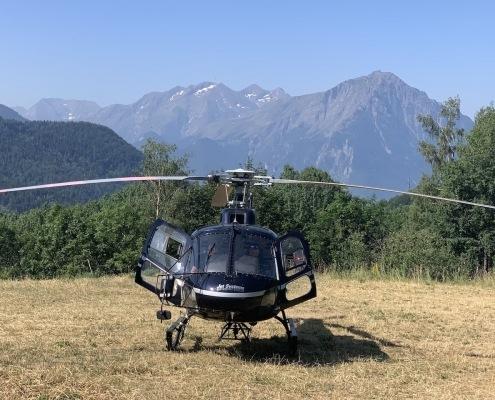 prise de vue aérienne par hélicoptère en réalitée virtuelle VR360