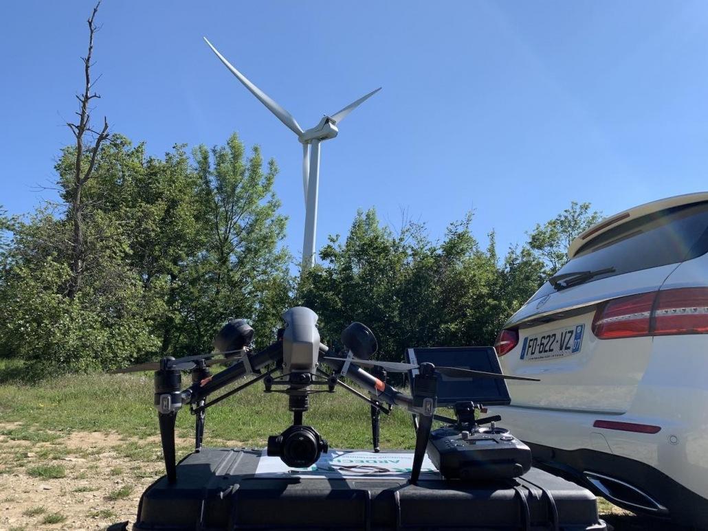 professionnel du drone expert en energie renouvellable éolienne