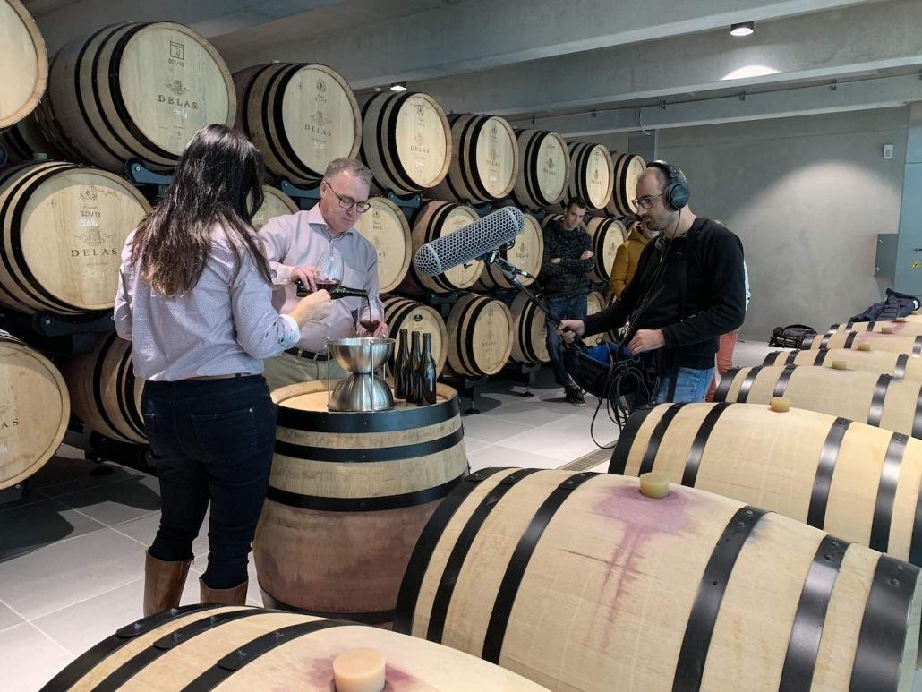 comment réaliser un film dans une cave viticole ?