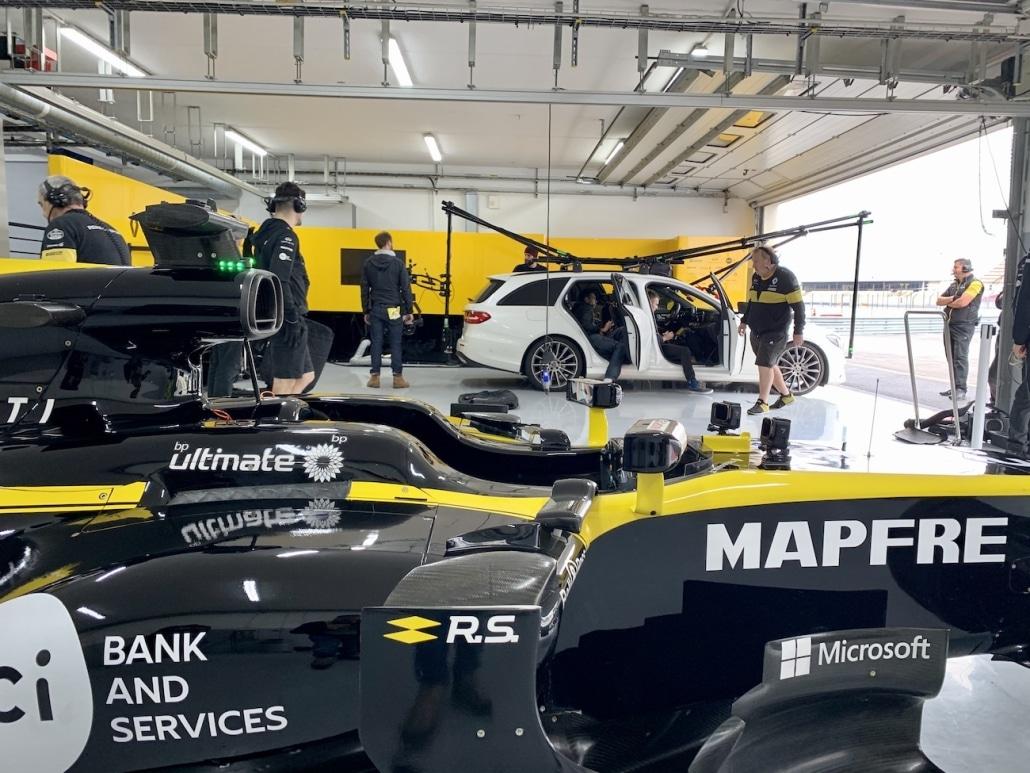 Prise De Vue Drone Sur Le Circuit Du Castellet Avec Renault F1