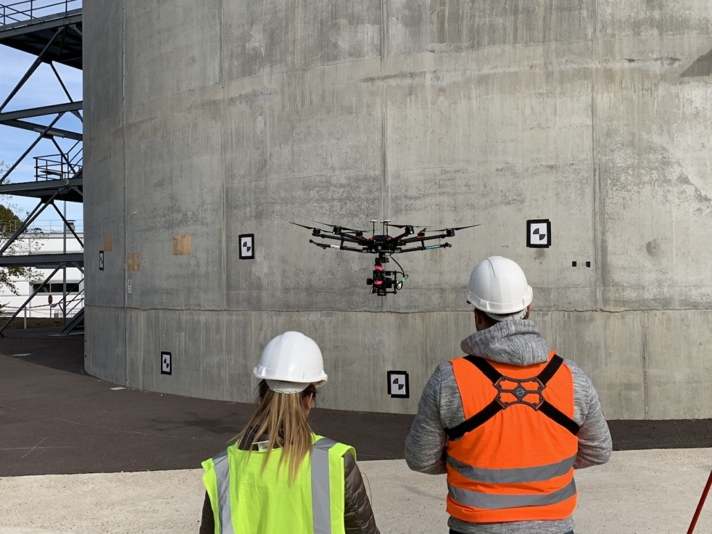 Photogrammétrie Par Drone Inspection D'ouvrages
