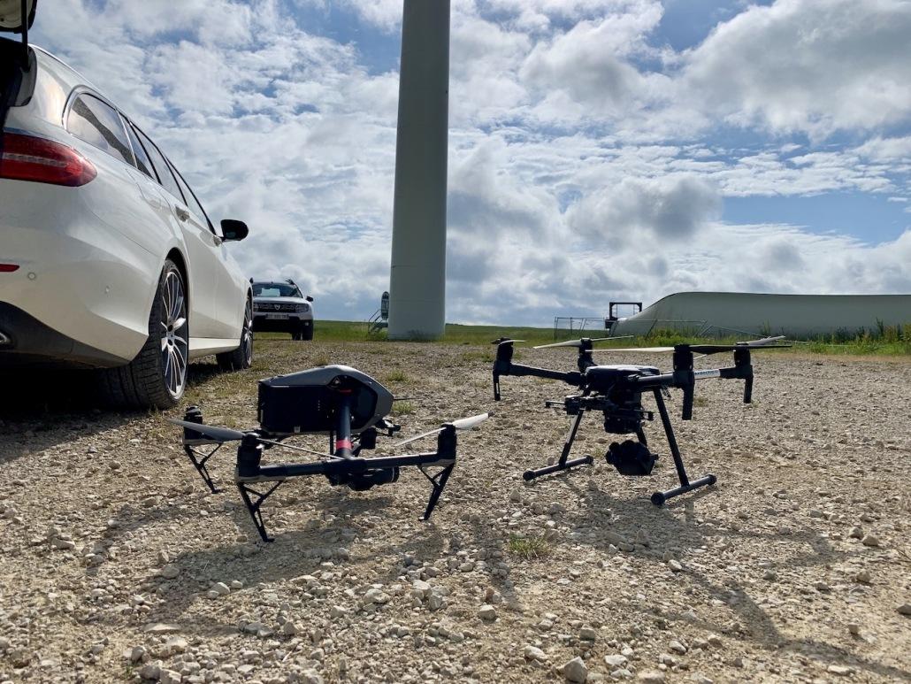 Prestataire Drone Opérateur Drone Pour Inspection D'éolienne Thermique