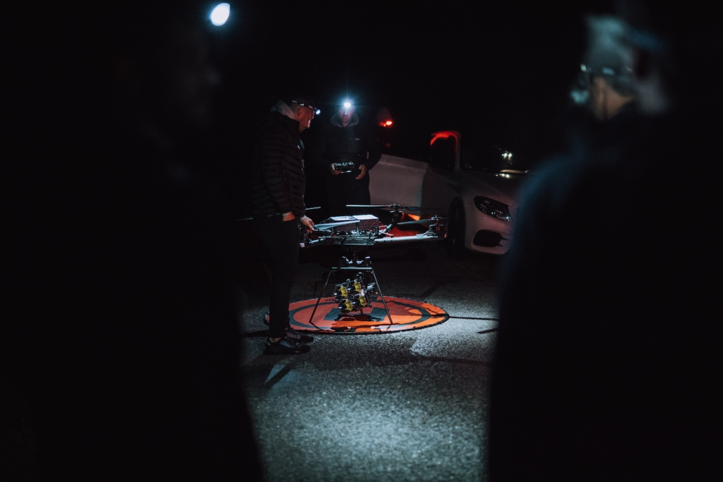 opérateur drone alta en france avec eclairage